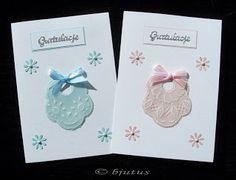 parchment craft, technika pergaminowa, kartka - Gratulacje z okazji narodzin