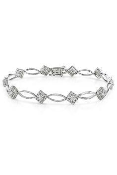 Capri Jewelers Arizona ~ www.caprijewelersaz.com  1 ct Diamond Bracelet IX In Silver -