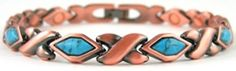 ProExl Copper Link Womens Magnetic Bracelet Turquoise Stones Varese 75 inches >>> Want additional info? Click on the image. (This is an affiliate link and I receive a commission for the sales)