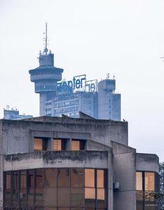 Genex Tower & SIV 3 Building in Belgrade, Serbia. (70-s) (c) BACU #socialistmodernism