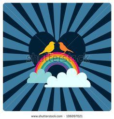 rainbow heart background designs google search rainbow