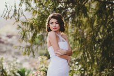 Touch of Spring Spring Day, White Dress, Touch, Bride, Hair, Photography, Beautiful, Fashion, White Dress Outfit