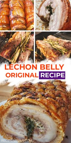 The Lechon Belly Recipe has crispy skin when cooked the right way. For that reason, it's a mainstay in different celebrations like weddings, baptism, office parties, and other celebrations. #FilipinoFoods #FilipinoRecipe