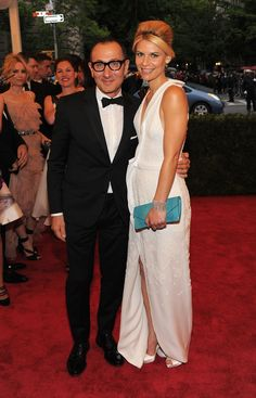 Claire Danes and Gilles Mendel #metgala #redcarpet