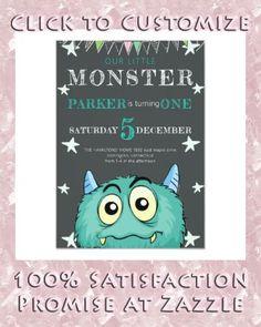 Shop Party Monster Kids Birthday Invitation created by Baby_time. Monster Birthday Invitations, Monster Birthday Parties, Kids Birthday Party Invitations, Monster Party, Little Monsters, Baby Time, Colored Envelopes, Envelope Liners, Custom Invitations