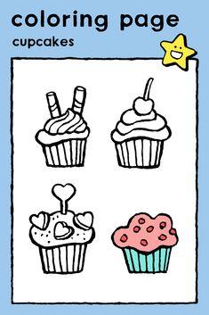 cupcakes, coloring pages, colouring picture - kids, birthday, parties, food, cake and ice-cream • cupcakes, kleurplaat, kleurprent, kinderen, feesten, verjaardag, eten, taart en ijsjes • Cupcakes, Ausmalbilder, Malvorlagen, Kinder, Party, Geburtstag, Essen, Torten und Eis • cupcakes, coloriage, image à colorier, enfants, fêtes, anniversaire, manger, gâteaux et glaces #freebie #ColoringPages #kleurplaat #Ausmalbilder #coloriage #kids #kinderen #Kinder #enfants #birthday #Geburtstag #anniversaire Chocolate Raisins, Birthday Coloring Pages, Ice Cream Cupcakes, Easter Colouring, Nouvel An, Colorful Pictures, Food And Drink, Apps, Cook