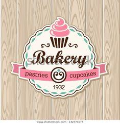 Cupcake Logo, Cupcake Bakery, Bakery Business Cards, Cake Business, Bakery Logo Design, Menu Design, Design Design, Logo Doce, Logo Patisserie