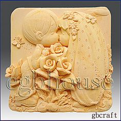 2D Silicone Soap Mold  Kissing Couple  free shipping  by egbhouse, $28.00