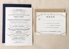 The Dahlia Suite - Letterpress Wedding Invitation Suite
