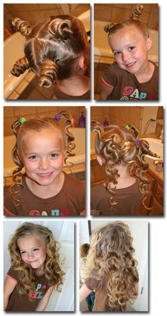 how to curl your childs (and yours!) hair naturally with bantu knots...a great tutorial for all hair types.