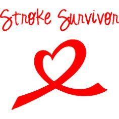 stroke survivor pictures | Stroke Survivor-heart ribbon Men's Shirts | Stroke Survivor T-Shirts