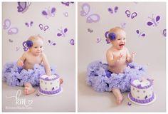 Purple Paper Butterflies  Photography Backdrop  by KristeenMarie