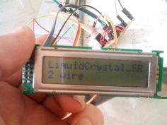 2-Wire LCD interface for Arduino or Attiny