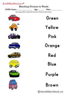 Matching Colors Printable Worksheets Free Printables