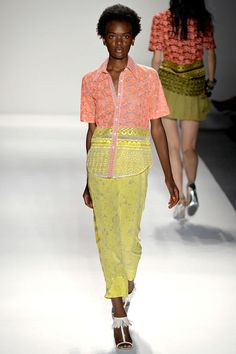 peach + yellow. tracy reese spring 2013