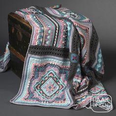Haakdingen.cal MadeByMom   Haakdingen.nl Crochet Square Blanket, Afghan Crochet Patterns, Crochet Granny, Knitting Patterns Free, Free Knitting, Crochet Stitches, Crochet Baby, Free Pattern, Knit Crochet