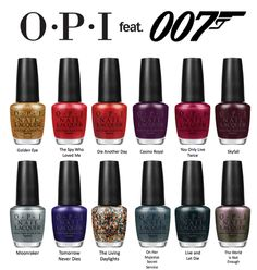 I heard HHS prom is 007 James Bond themed.there happens to be a 007 Skyfall pretty nail polish collection by OPI :) Gel Opi, Opi Nail Polish, Opi Nails, Nail Polish Colors, Nail Polishes, Nails News, Gradient Nails, Jamberry Nails, James Bond Skyfall