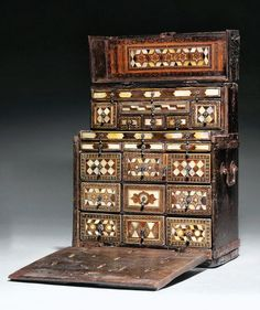 An Ottoman Inlaid Jewellers Chest. Turkey. 17th century AD / 11th century AH.
