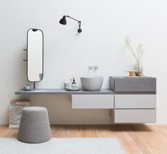 in this article we will show you many ideas to help you to choose the right bathroom wall storage cabinets. Bathroom Wall Storage, Wall Storage Cabinets, Washroom, Bad Inspiration, Bathroom Inspiration, Modern Bathroom Design, Bathroom Interior Design, Bathroom Designs, Drawer Design
