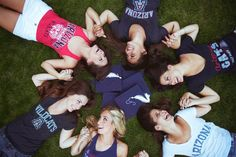 Cute Graduation pic idea, except wearing the shirts of schools we will attend.