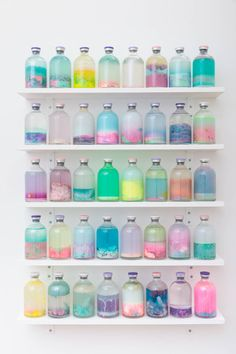 Bottled life // Gorgeous array of pastel colours. I love the mix of all these colours together (Bottle Photography Posts) Pastel Decor, Pastel Colors, Pastel Art, Bright Colour Palette, Pastel Feed, Mixing Colours, Soft Pastels, Colour Combo, Bright Colours