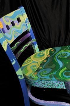 Green Swirl Chair