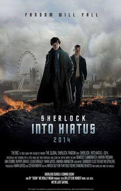 Sherlock into Hiatus Sherlock Holmes, Sherlock Fandom, Moriarty, Sherlock Series, Sherlock Humor, Benedict Cumberbatch, Martin Freeman, Louise Brealey, Rupert Graves