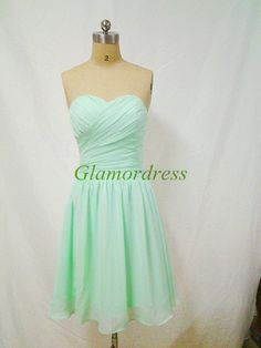 short mint sweetheart prom dresses simple bridesmaid dress cheap homecoming dress / party gown