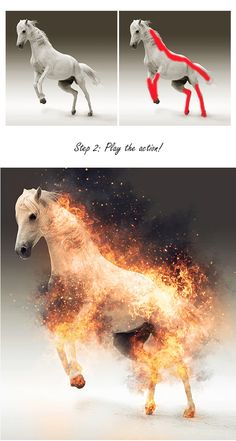 Fire Photoshop Action by sevenstyles