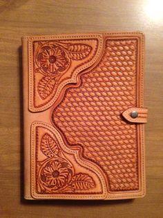Hand tooled leather ipad case