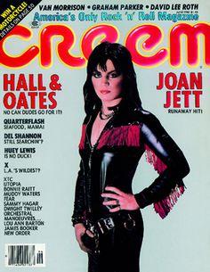 Joan Jett on the cover of CREEM Magazine - June 1982