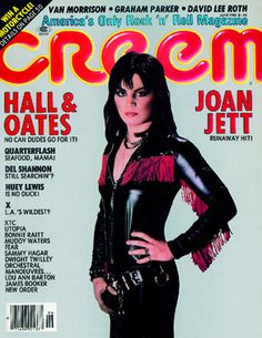Joan Jett on the cover of CREEM Magazine - June 1982
