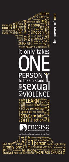 It only takes one person to take a stand against sexual violence.