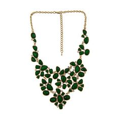 Blu Bijoux Emerald Facet Bib Necklace Emerald Facet Bib Necklace (185 BRL) ❤ liked on Polyvore featuring jewelry, necklaces, accessories, gioielli, collane, women, chain necklace, facet jewelry, emerald jewellery and long chain necklace