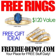 ►► 2 FREE Gemstone Rings - $120 Value - FREE Gift Idea ►► #Free, #FREEStuff, #Freebie ►► Freebie-Depot