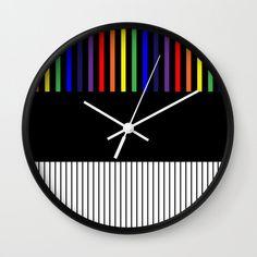 Colour Pop Stripes - Rainbow Wall Clock by laec Colour Pop, Color, Rainbow Wall, Clocks, Stripes, Creative, Clock, Colour