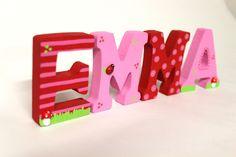 Holzbuchstaben  von -lieblingsmama- auf DaWanda.com