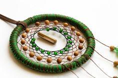 dreamcatcher, green, pacificro, dream, catcher, amulets, jewelery, ethnics, boho.