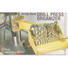 This downloadable plan is only a dollar! I'm a fan of saving where I can and it would be nice to keep things more organized. #drillpress #drillbits #garageorganization