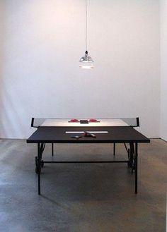Jonathan Borofsky,Ping Pong Tisch zum  Spielen, frühe 70er – späte 80er