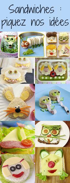 """""""Pas faim…"""", comment ça pas faim ? Pour ouvrir l'appétit de votre enfant, l'essentiel est de jouer la carte de la fantaisie et de lui proposer des idées rigolotes. Voici des idées de sandwiches vraiment pas comme les autres ! Toddler Food, Toddler Meals, Sandwiches, Jouer, Voici, Teddy Bear, Toys, Birthday, Cute"""