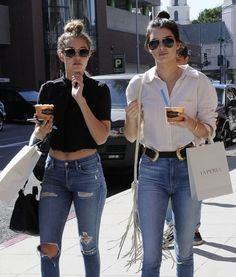"""Kendall Jenner 7 For All Mankind """"slim illusion high rise skinny jeans"""""""