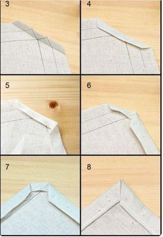 image of corner hemming Sewing Basics, Sewing Hacks, Sewing Tutorials, Sewing Projects, Techniques Couture, Sewing Techniques, Clothing Patterns, Sewing Patterns, Sew Mama Sew