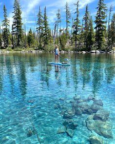 Where To Get Wet In Oregon This Summer (10 Pretty Spots) | That Oregon Life Waldo Lake, Oregon, Road Trip, Tropical, Island, Mountains, Pretty, Summer, Travel