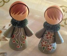 beautiful quilled dolls                                                                                                                                                                                 Más