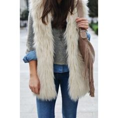 White Faux Fur Vest White faux fur vest. Never worn. Clasps for front closure. 2 hidden pockets (one on each side). Satin-like feel inside. Great winter to spring transition piece. *Will take better photos soon* NO TRADES OR PAYPAL. Jackets & Coats Vests