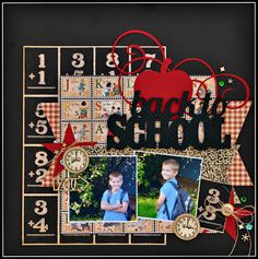 """Cathy Harper used the Graphic 45 """"ABC Primer"""" collection for her layout today.  Visit www.scrap-town-lady.blogspot.com for her list of products she used from www.scraptownlady.com"""