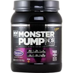 CytoSport Monster Pump NOS Sour Grape 600 g* | Regular Price: $55.99, Sale Price: $37.99 | OvernightSupplements.com | #onSale #supplements #specials #CytoSport #PreWorkout  | Monster Pump is nature s ultimate power workout formula designed to give you powerful skin bursting pumps The four exclusive nutrient blends in Monster Pump fuel monster workouts for monster results Waxy Maize Starch Patented Energy Source Increase Lean Muscle Mass Improved Mental Focus with Caffeine and