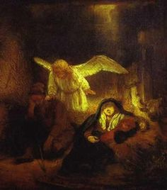 rembrandt annunciation | For today, the Feast of the Annunciation, from his 1966 Classic, The ...