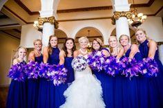 Purple Bridesmaid Bouquets Dress $80